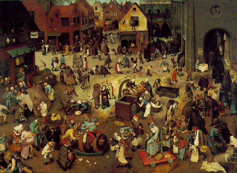 The Fight Between Carnival and Lent 1559 Kunsthist. M. Wien (kopia)
